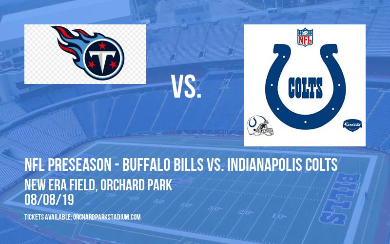 PARKING: NFL Preseason - Buffalo Bills vs. Indianapolis Colts at New Era Field