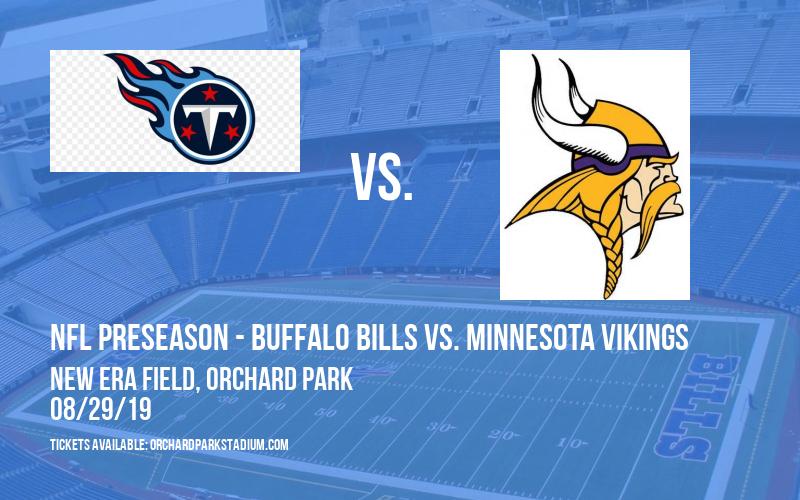PARKING: NFL Preseason - Buffalo Bills vs. Minnesota Vikings at New Era Field